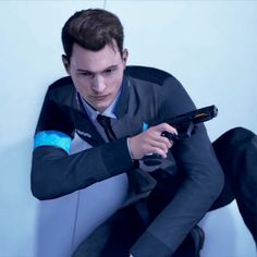 Detroit: Become Human Connor😍 Bryan Dechart, Beyond Two Souls, Quantic Dream, Detroit Become Human Connor, Becoming Human, I Am Alive, Bae, I Like Dogs, Game Character