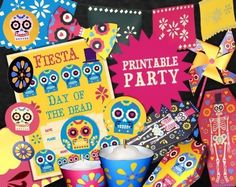 Day of the Dead party decoration printables by happythought