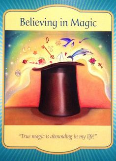 "Daily Angel Oracle Card: Believing In Magic, from the Gateway Oracle Card deck, by Denise Linn Believing In Magic: ""True Magic Is Abounding In My Life!"" Believing In Magic ~ Card Meanin… Angel Guidance, Spiritual Guidance, Deck Of Cards, Card Deck, Spirit Signs, Doreen Virtue, Angel Cards, Believe In Magic, Oracle Cards"