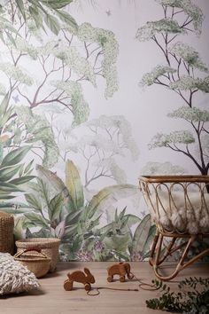 Maison trendy motifs for your walls Maison trendy motifs for your walls Polina Bakh polinabakh Interior Add a beautiful touch of nature Forest walpaper nursrey wallpaper wallmural nbsp hellip New Nature Wallpaper, Bold Wallpaper, Interior Wallpaper, Tropical Wallpaper, Kids Room Wallpaper, Trendy Wallpaper, Wallpaper Backgrounds, Children Wallpaper, Wallpaper Childrens Room