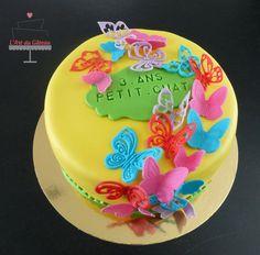 Gâteau envolée de papillons