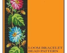 Bead Loom Floral Border 1, 2, 6 Multi-Color Bracelet Patterns PDF