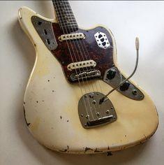 Olympic White Fender Jaguar