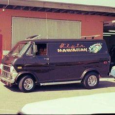 Custom VANS natural BABES & other bad ass transportation. Customised Vans, Custom Vans, Gmc Vans, Chevy Van, Old School Vans, Vanz, Old Pickup Trucks, Cool Vans, Vintage Vans