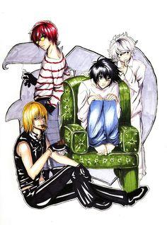 Lawliet, Matt, Mello and Near Death Note デスノート, L Lawliet, Sad Art, Manga, Anime, Cartoon Characters, Fictional Characters, Artwork, Boys