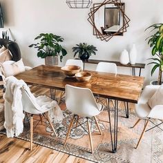Getting Bored With Your Home? Use These Interior Planning Ideas – Lastest Home Design Dining Room Inspiration, Home Decor Inspiration, Decor Ideas, Furniture Inspiration, Dinning Room Ideas, Decor Diy, Design Inspiration, Interior Design Living Room, Living Room Decor