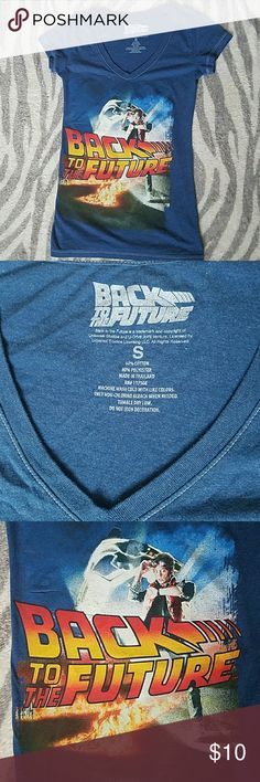 Back to the Future T-Shirt Dark-blue Back to the Future T-Shirt 🔵 60% cotton, 40% polyester. Tops