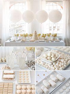all white dessert table - love!!!!