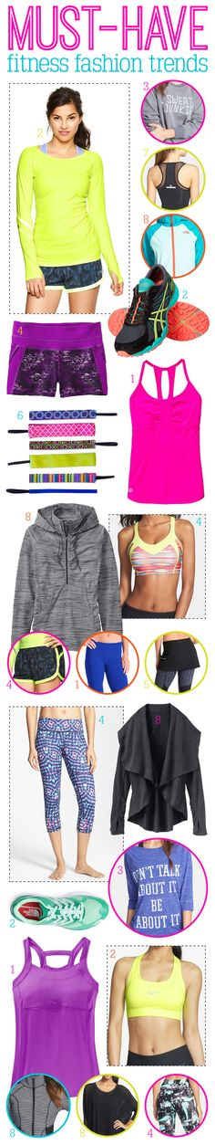 Super cute fitness fashion for this Spring! The bright colors are fabulous!