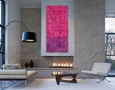 Abstract Painting, Sculpture Modern Wall Decor Art, Mixed Media, Purple Abstract, Pink, Custom Order, Unique Rich Texture, Julia Apostolova by juliaapostolova. Explore more products on http://juliaapostolova.etsy.com