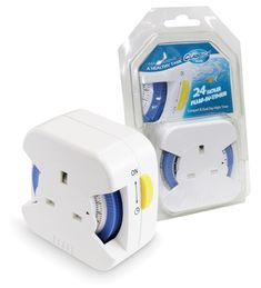 Classica 24 Hour Plug In Timer     A simple yet sturdy 24 hour timer for UK appliances.    Perfect for controlling lights on aquariums which is ideal for proving your aquatic plants with consistent and stable light duration.    15 minute interval setting.    For appliances up to 3KW (max 13A).