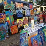 First Friday is an art walk in the galleries just south of downtown San Antonio in the King  William/Southtown ditrict.