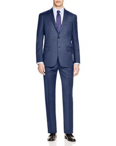 Hart Shaffner Marx Platinum Label Navy Pinstripe Suit - 100% Bloomingdale's Exclusive