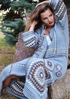 New Crochet Shrug Lacy 55 Ideas Gilet Crochet, Crochet Coat, Crochet Winter, Crochet Jacket, Crochet Cardigan, Crochet Clothes, Crochet Shawl, Moda Crochet, Crochet Granny
