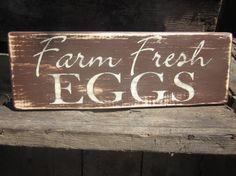 Farm Fresh Eggs  Wooden Sign Kitchen Decor Home Decor