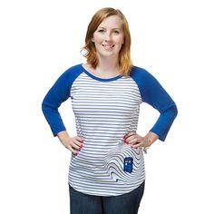 TARDIS Stripe Ladies Raglan T-Shirt