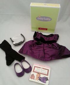 American Girl Bitty Baby Holiday Purple Dress Retired NIB | eBay Girl Dolls, Baby Dolls, Baby Doll Clothes, Bitty Baby, Purple Dress, American Girl, Best Deals, Holiday, Ebay
