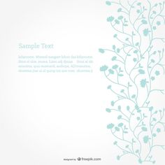 Floral Vector Background Minimalist Design      Free Vector