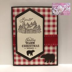 Stampin' Up Rustic Retreat; Stampin' Up Toile Tidings DSP; Stampin' Up Snow Globe Scenes Dies; Stampin' Up Stitched Nested Labels Beautiful Christmas Cards, Beautiful Handmade Cards, Christmas Holiday, Cool Cards, Men's Cards, Baby Cards, Greeting Cards, Scrapbook Page Layouts, Scrapbook Cards