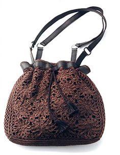 Bolsa em Crochê com Gráfico