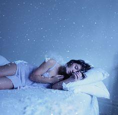 woman sleeps under snow by rosie hardy