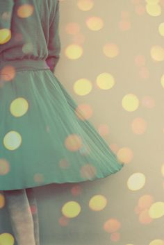 Peach and Teal Dancing Girl Bokeh Turquoise Pretty by JoyfulRoots, $29.00