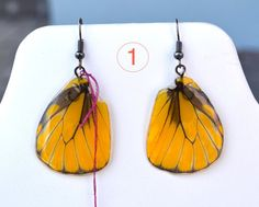 Butterfly Wing Earrings by myNaturesDESIGN on Etsy, $43.00