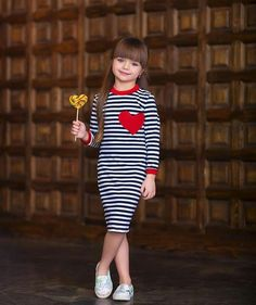Fashion Trends For Toddlers Product Girls Party Dress, Little Girl Dresses, Girls Dresses, Toddler Dress, Baby Dress, Cute Baby Clothes, Leggings Fashion, Kids Wear, Striped Dress