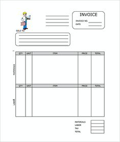 Plumbing Contractor Receipt Free  Proforma Invoice Template And