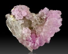 Rare Heart Shaped Pale Pink Gemmy ROSE QUARTZ Terminated Crystals from Brazil