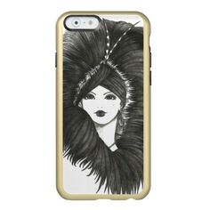 The Evening Lady iPhone 6 Feather Shine Case www.zazzle.com/clearwillowdesigns