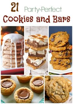 21 Party Perfect Cookies and Bars. With ingredients like apples, pumpkin and of course chocolate, these recipes are perfect for fall get-togethers or holiday parties.