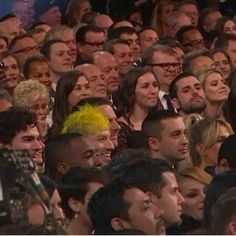 Thank you Josh and Jenna, for both sporting bright yellow. The fact that you two were matching was adorable, but more importantly, it meant I could easily find you guys in a sea of people I (mostly) don't care about (not that there aren't other artists that I like, just not nearly as much). Congrats on the Grammy win.