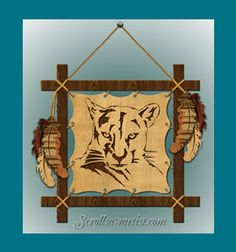 Scroll Saw Patterns :: Native American & Southwestern :: Panther