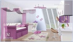 A different dream room for girls by SIMcredible! Designs 3 - Sims 3 Downloads CC Caboodle