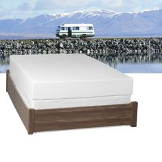 made for rv beds this select luxury rv medium firm fullsize gel memory foam mattress provides three foam layers for excellent comfort