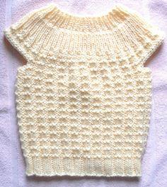 Suzies Stuff: TOP DOWN SEAMLESS JERKIN LARGE (toddler sweater)