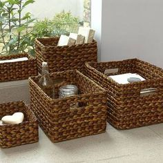 Lined Wicker Baskets products wicker baskets – Rattan Furniture IdeasRectangular Waterhyacinth Basket - for hairdryer and straightenersThese rectangular water hyacinth wicker baskets are a brilliant alternative to a traditional wicker basket. Lined Wicker Baskets, Rattan Basket, Baskets On Wall, Storage Baskets, Bathroom Baskets, Rectangular Baskets, Newspaper Basket, Newspaper Crafts, Home Storage Solutions