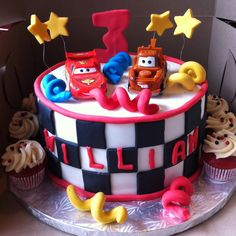 Awesome Lightning McQueen cake courtesy of the Investment Baker.   Finn's birthday possibility...