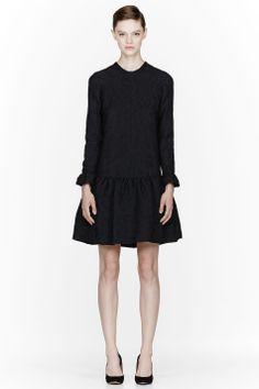 Simple. Classic. Black Jacquard Dress.