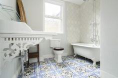 Beautiful bathroom cement tiles