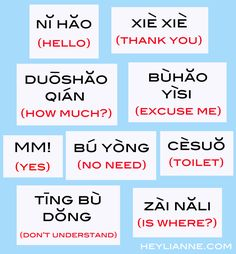 basics in chinese