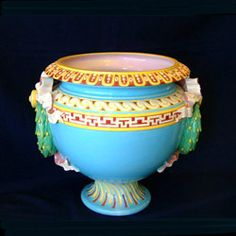 majolica | Large Minton majolica design. I wish the picture showed the handles better. They are wonderful