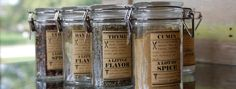 free vintage inspired spice jar labels to print from your computer
