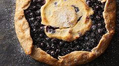 Blueberry Cheesecake Galette....... This rustic berry pie is taken to the next level with a cheesecake filling.