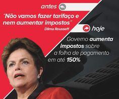 Brasil-Dilma Rousseff-2015-Quadro-Antes X Hoje