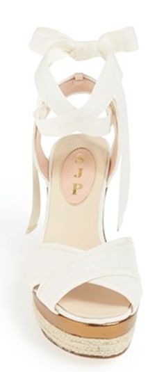 #SJP #white wedge sandals  http://rstyle.me/n/f3szypdpe