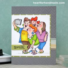 Picture Perfect from Art Impressions Girlfriends line.  Say cheese card!