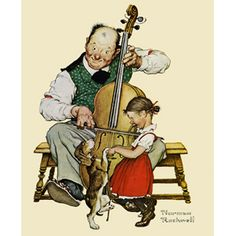 """""""Christmas Dance"""" """" by artist Norman Rockwell"""