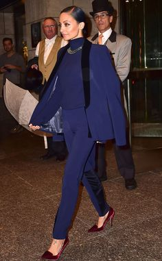 Nicole Richie looks regal in blue while out in NYC.